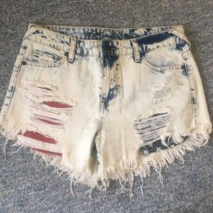 Mossimo High Rise Denim Shorts (Size 4)